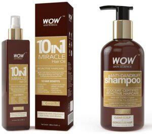 Anti Dandruff Shampoo WOW 10 in1 Miracle Hair Oil